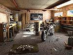 526. Гараж байкера. мотоцикл с которого началось все мое.  3ds max -render V-Ray 1.5.  Автор: Филипп Борщ.